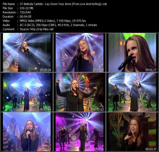 Belinda Carlisle HQ Videoclip «Lay Down Your Arms (From Live And Kicking)»