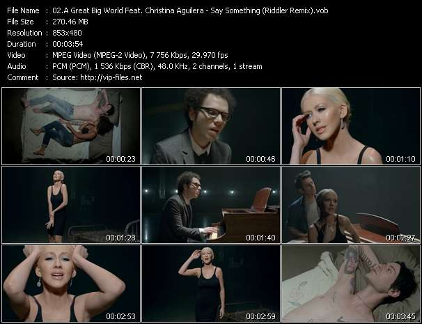 A Great Big World Feat. Christina Aguilera video - Say Something (Riddler Remix)