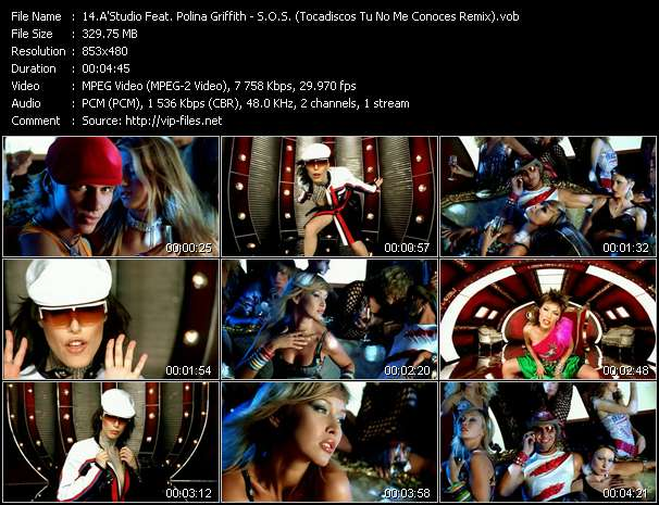 A'Studio Feat. Polina Griffith video - S.O.S. (Tocadiscos Tu No Me Conoces Remix)