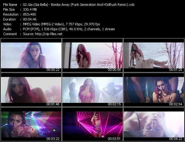 Gia (Gia Bella) HQ Videoclip «Bombs Away (Funk Generation And H3dRush Remix)»