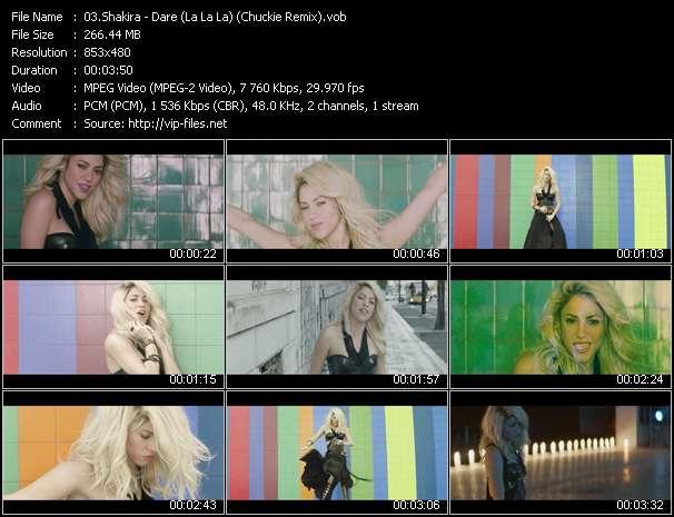 Shakira HQ Videoclip «Dare (La La La) (Chuckie Remix)»