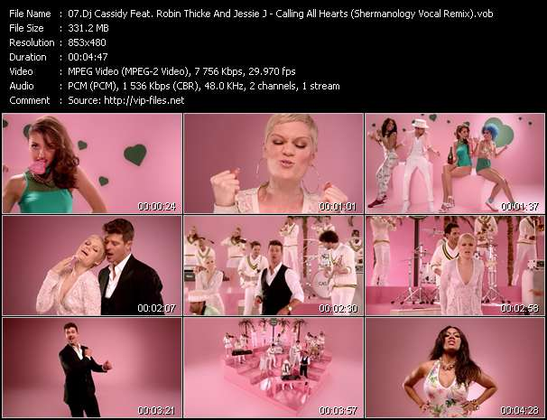 Dj Cassidy Feat. Robin Thicke And Jessie J HQ Videoclip «Calling All Hearts (Shermanology Vocal Remix)»