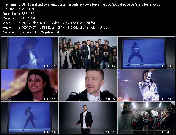 Michael Jackson Feat. Justin Timberlake video - Love Never Felt So Good (Fedde Le Grand Remix)