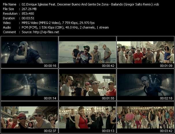 Enrique Iglesias Feat. Descemer Bueno And Gente De Zona video - Bailando (Gregor Salto Remix)