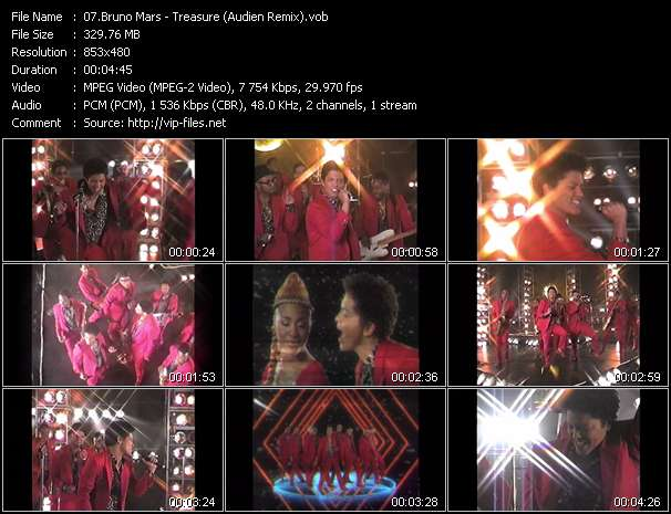 Bruno Mars video - Treasure (Audien Remix)