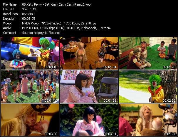 Katy Perry video - Birthday (Cash Cash Remix)