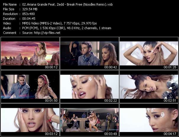Ariana Grande Feat. Zedd video - Break Free (Noodles Remix)