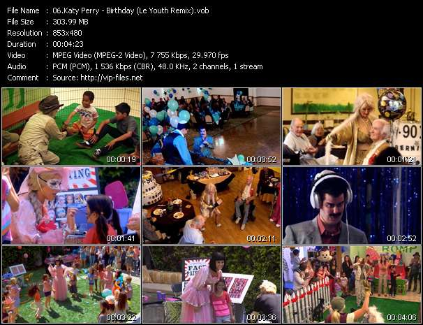 Katy Perry video - Birthday (Le Youth Remix)