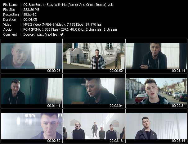 Sam Smith video - Stay With Me (Rainer And Grimm Remix)