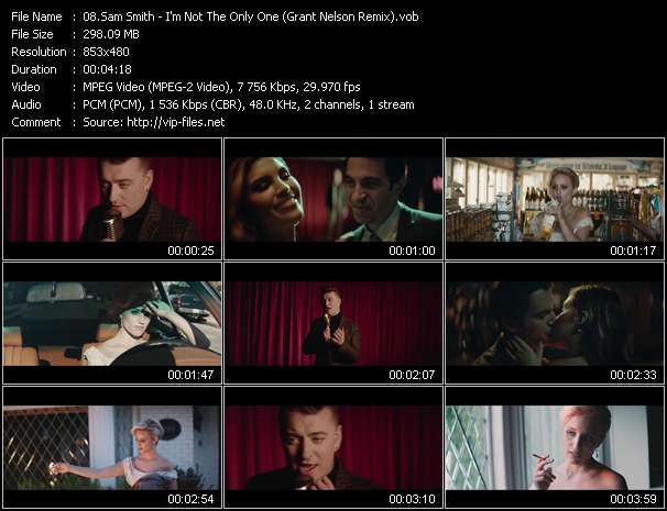 Sam Smith video - I'm Not The Only One (Grant Nelson Remix)