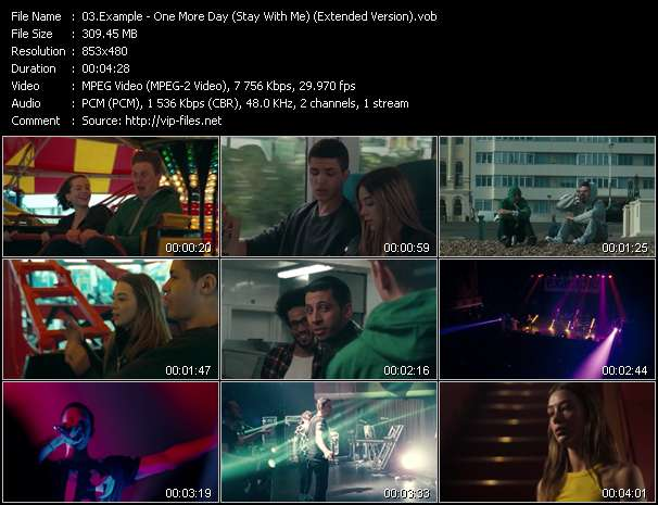 Example video - One More Day (Stay With Me) (Extended Version)