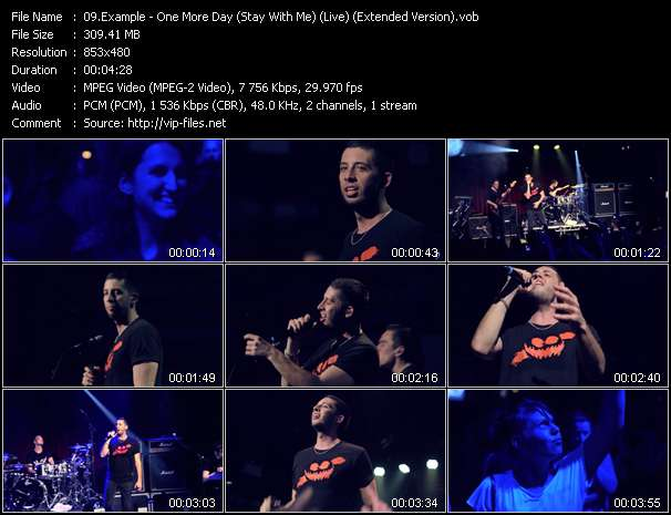 Example video - One More Day (Stay With Me) (Live) (Extended Version)