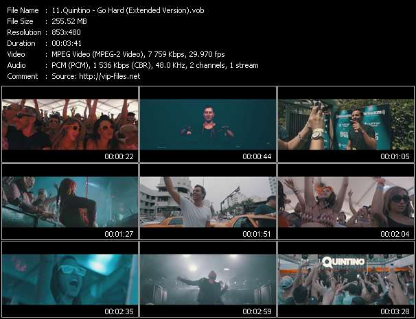 Quintino video - Go Hard (Extended Version)