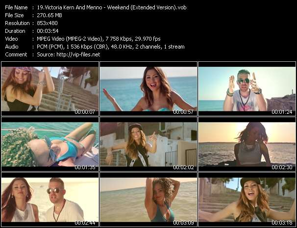 Victoria Kern And Menno HQ Videoclip «Weekend (Extended Version)»