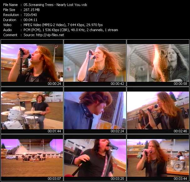 Screaming Trees HQ Videoclip «Nearly Lost You»