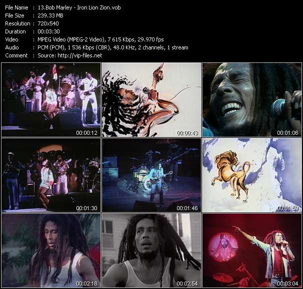 Bob Marley music video Novafile