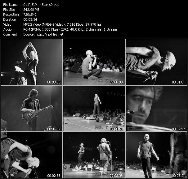 R.E.M. video - Star 69