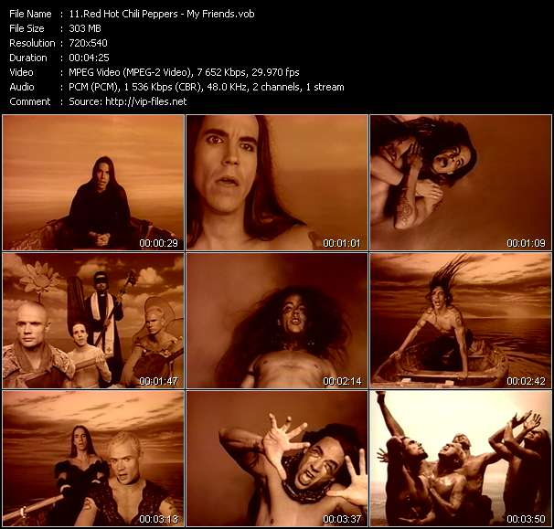 Red Hot Chili Peppers video - My Friends