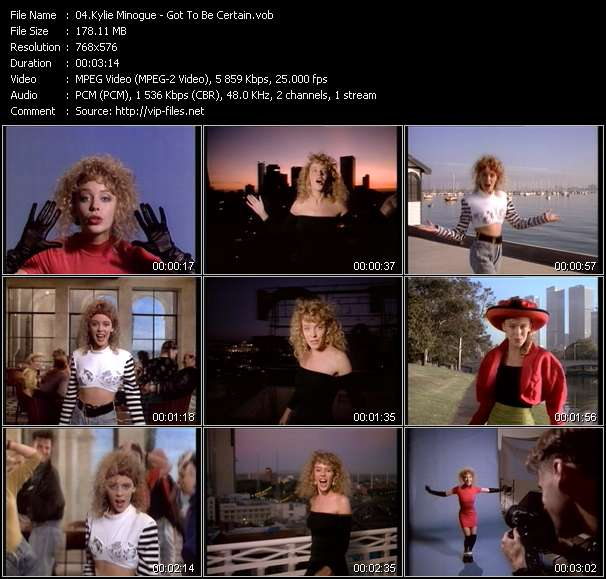 Kylie Minogue video - Got To Be Certain