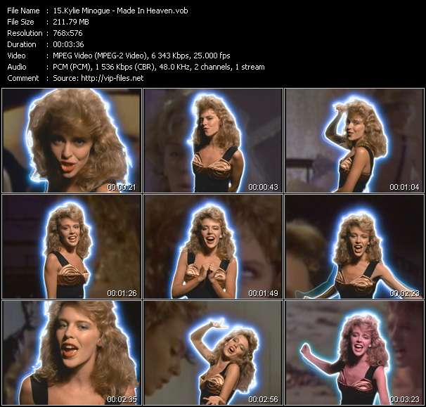 Kylie Minogue video - Made In Heaven