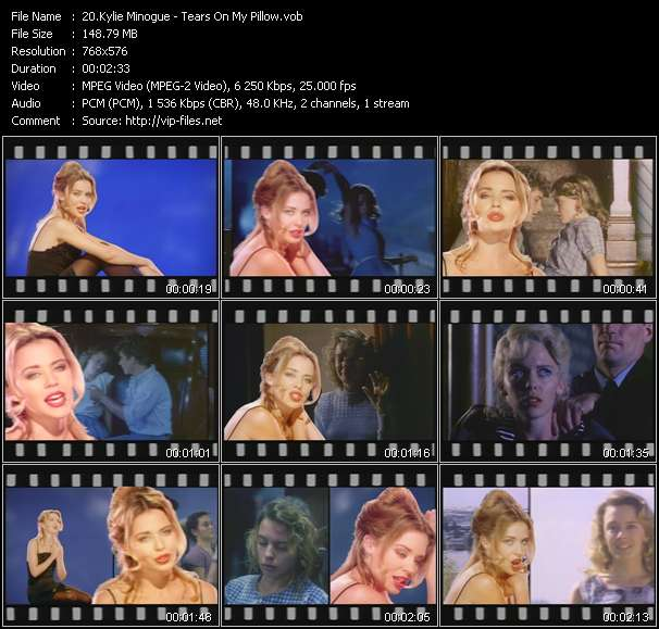 Kylie Minogue video - Tears On My Pillow