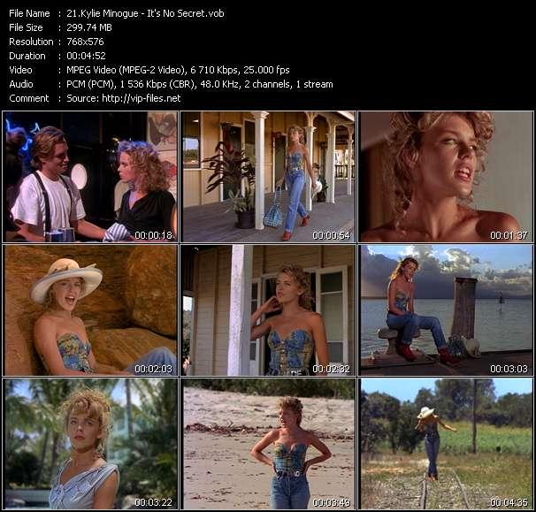 Kylie Minogue video - It's No Secret