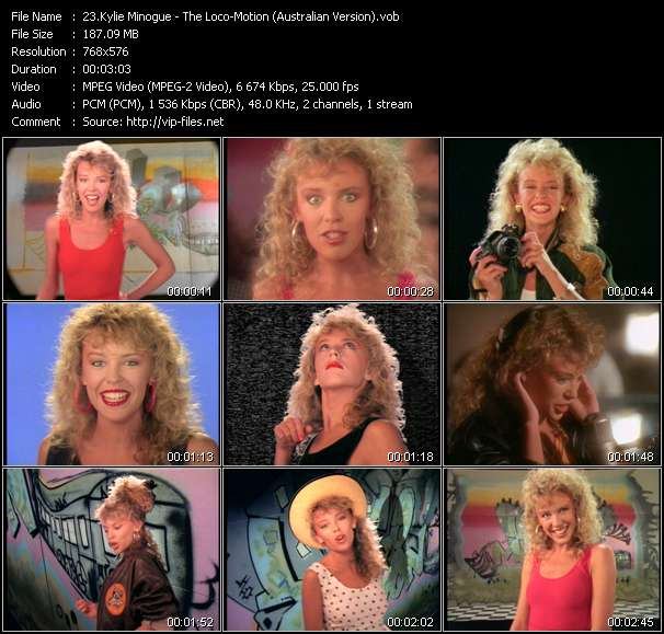 Kylie Minogue video - The Loco-Motion (Australian Version)