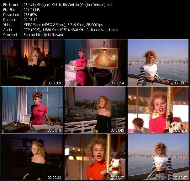 Kylie Minogue video - Got To Be Certain (Original Version)
