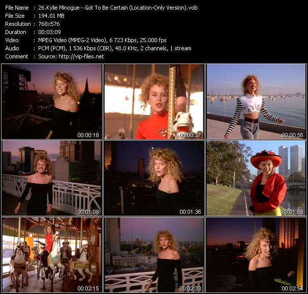 Kylie Minogue video - Got To Be Certain (Location-Only Version)