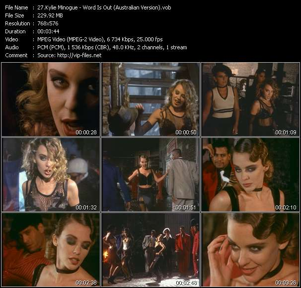 Kylie Minogue video - Word Is Out (Australian Version)