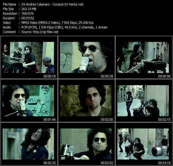 Andres Calamaro music video Filejoker