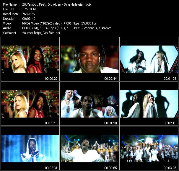 Yamboo Feat. Dr. Alban video - Sing Hallelujah