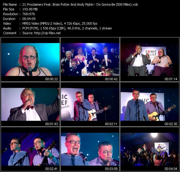 Proclaimers Feat. Brian Potter And Andy Pipkin HQ Videoclip «I'm Gonna Be (500 Miles)»