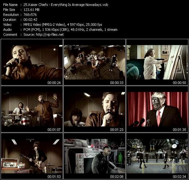 Kaiser Chiefs HQ Videoclip «Everything Is Average Nowadays»