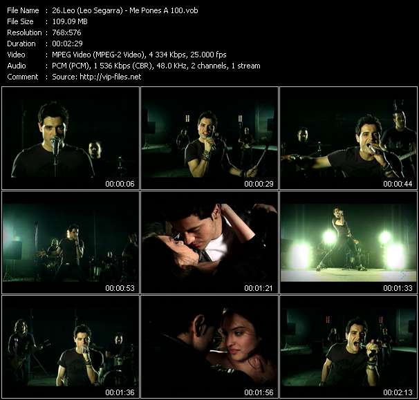 Leo (Leo Segarra) HQ Videoclip «Me Pones A 100»