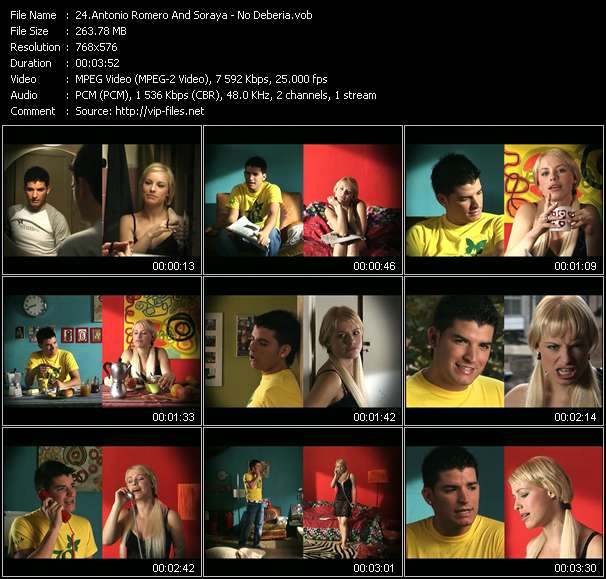 Antonio Romero And Soraya music video Filejoker