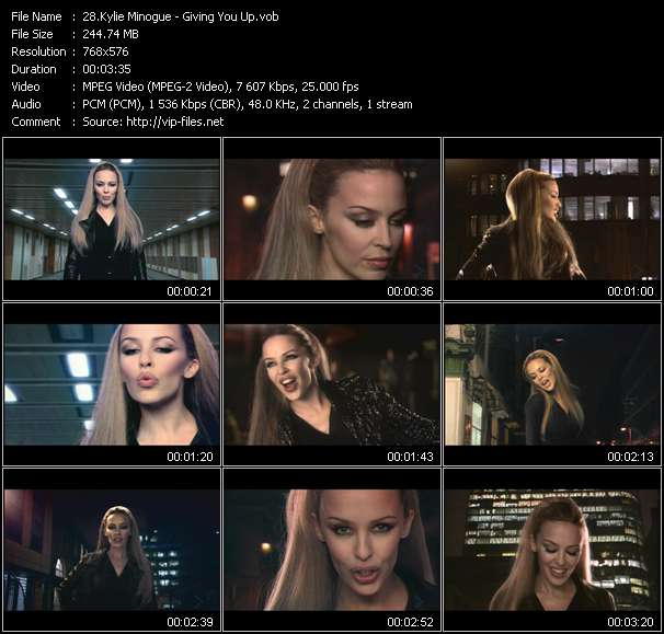 Kylie Minogue video - Giving You Up