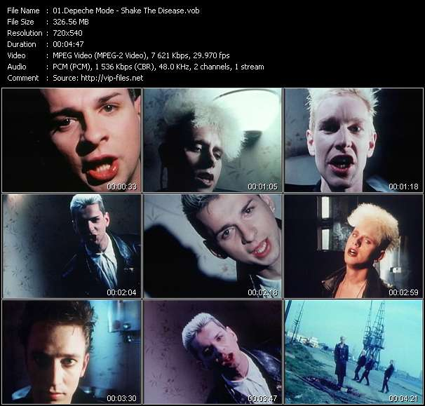 Depeche Mode video - Shake The Disease