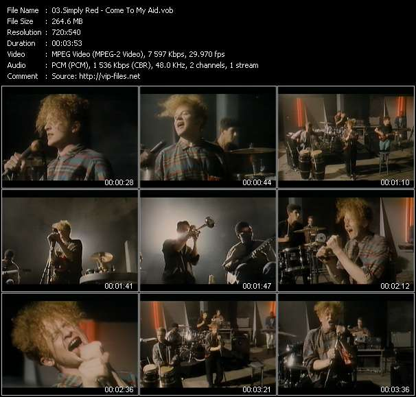 Simply Red HQ Videoclip «Come To My Aid»