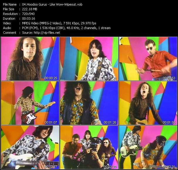 Hoodoo Gurus HQ Videoclip «Like Wow-Wipeout»