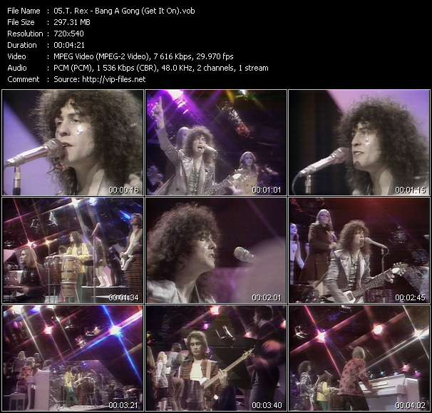 T. Rex video - Bang A Gong (Get It On)