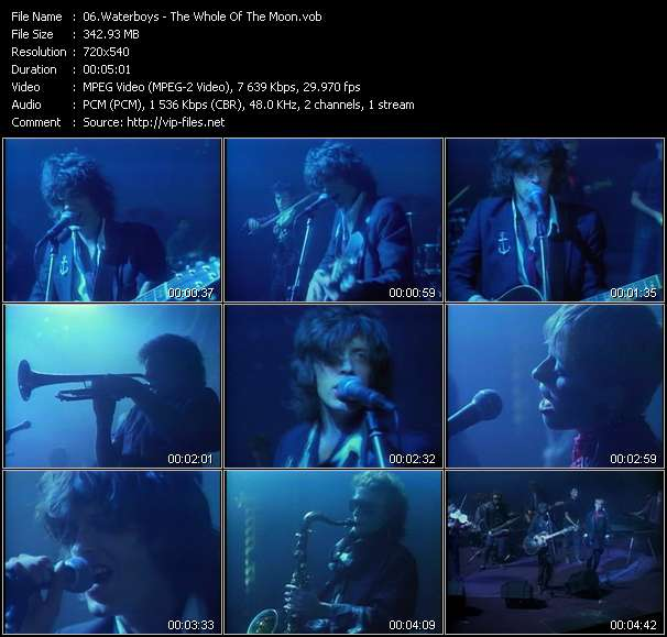 Waterboys HQ Videoclip «The Whole Of The Moon»