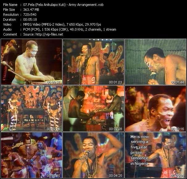 Fela (Fela Anikulapo Kuti) HQ Videoclip «Army Arrangement»