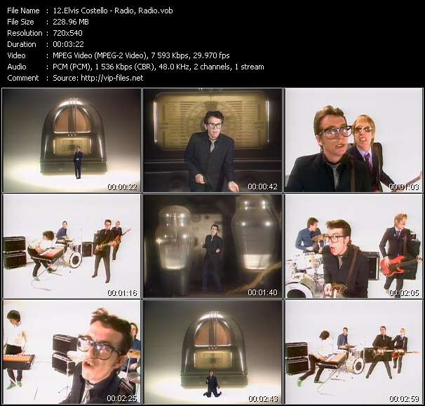 Elvis Costello video - Radio, Radio