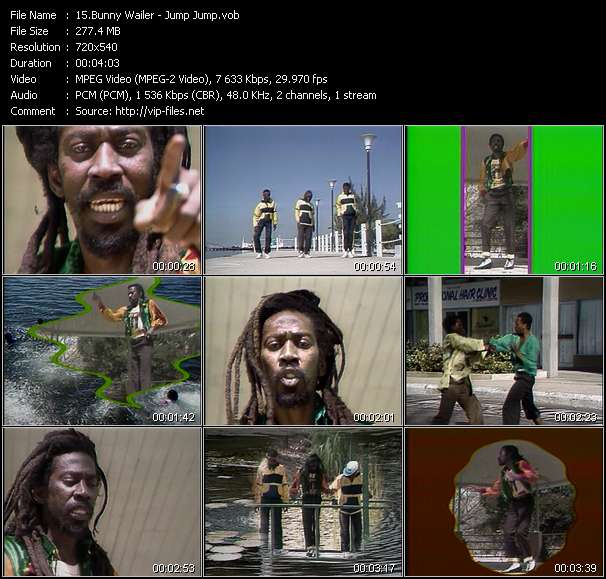 Bunny Wailer music video Novafile