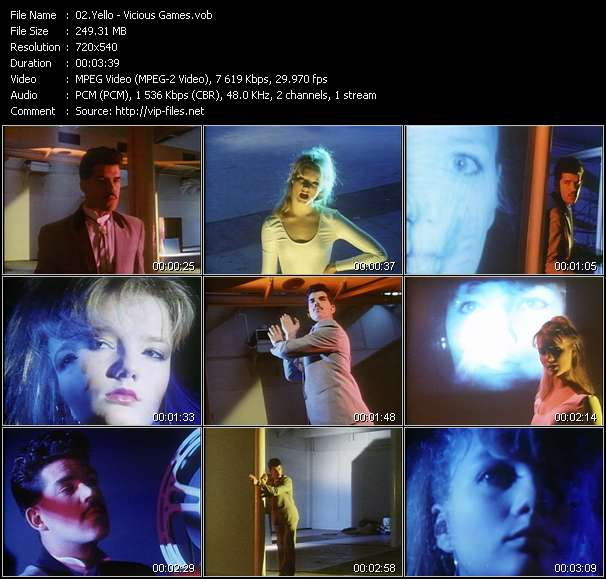 Yello video - Vicious Games