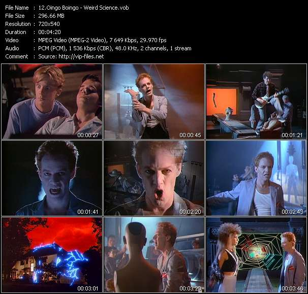 Oingo Boingo HQ Videoclip «Weird Science»