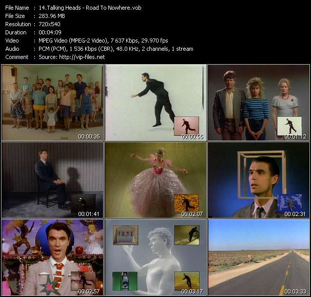 Talking Heads HQ Videoclip «Road To Nowhere»