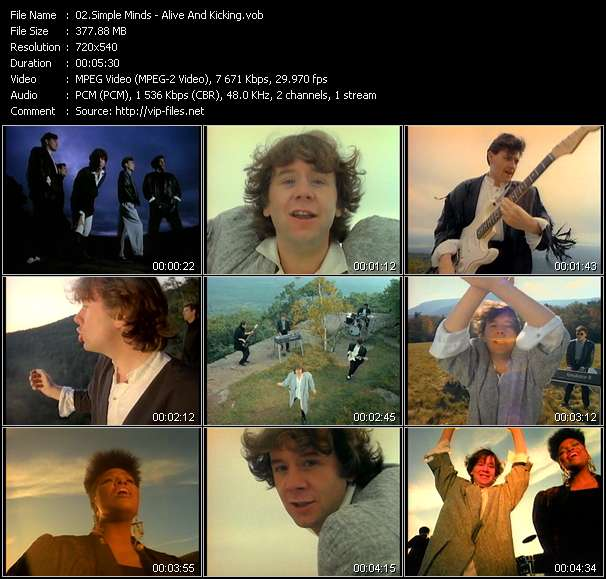 Simple Minds video - Alive And Kicking