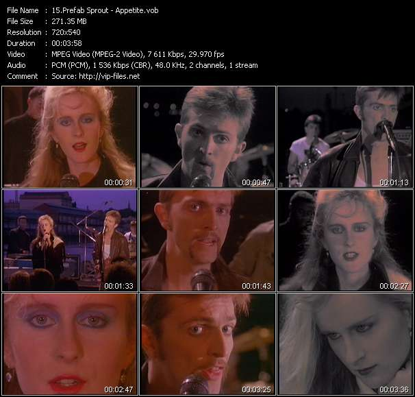 Prefab Sprout video - Appetite